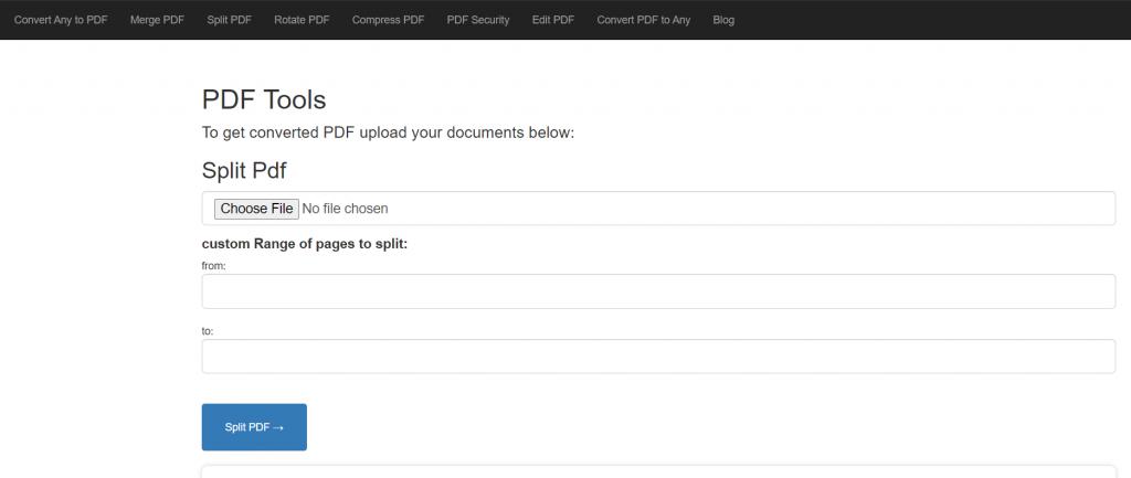 Cloud-pdf split pdf tool: Split pdf in seconds