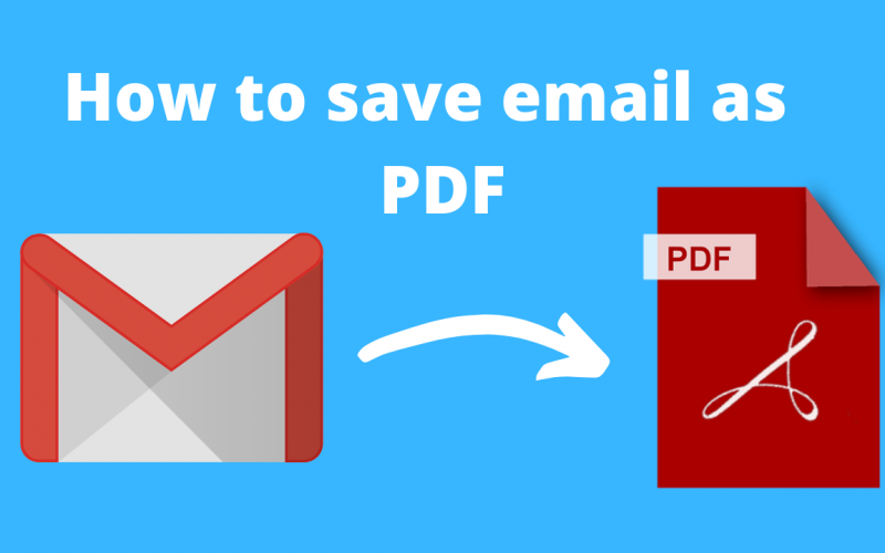 How to save email as pdf