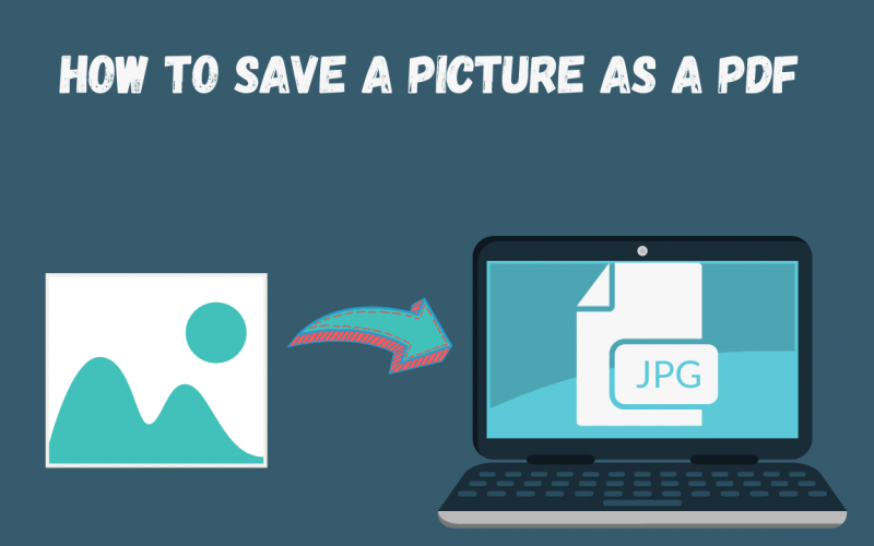 How to save a picture as a pdf