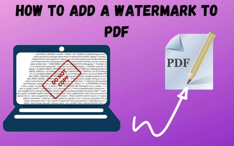How to Add a watermark to PDF