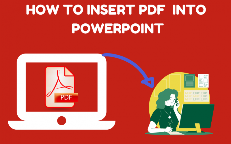 How to insert pdf into PowerPoint