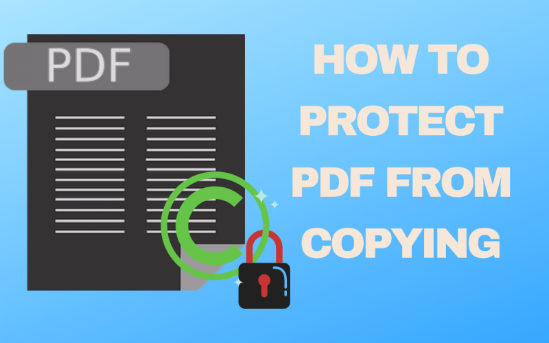 How to protect PDF from copying